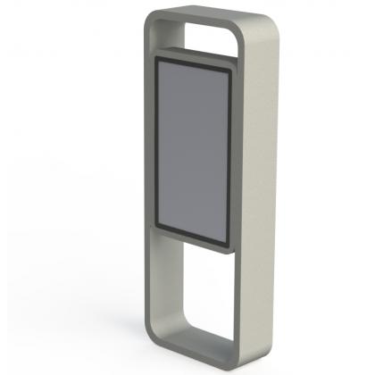 Антивандальный киоск уличного исполнения, с ударопрочным сенсорным экраном 46 дюймов
